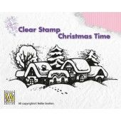 Clearstamp - Christmas time - Snowy village (CT009) (AFGEPRIJSD)