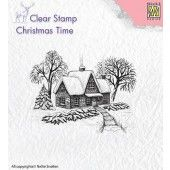 Nellies Choice - Clearstamp - Christmas Time - Idyllisch winterscène (CT019)