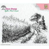 Nellies Choice - Clearstamp - idyllic Flora Korenveld-landweg 140x95mm (IFS005)*