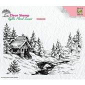 Nellies Choice - Clearstamp - idyllic Flora winter scene-1 140x92mm (IFS009)