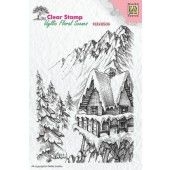 Nellies Choice - Clearstamp - idyllic Flora winter scene-2 133x95mm (IFS010) (AFGEPRIJSD)