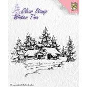 Nellies Choice - Clearstamp - Winter Time Winter huis (WT002)*