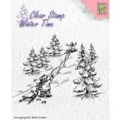 Nellies Choice - Clearstamp - Winter Time  waterval (WT004) (AFGEPRIJSD)