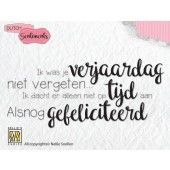 Nellies Choice Clearstempel Sentiments - Ik was je verjaardag...(NL) (SENCS003)