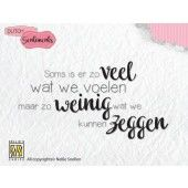 Nellies Choice Clearstempel Sentiments - Soms is er zoveel wat...(NL) (SENCS005)