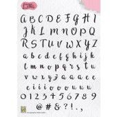Nellies Choice Clearstempel - alfabet Lena (ALCS001)
