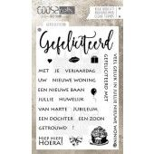 COOSA Crafts - clearstamps A6 - Gefeliciteerd  A6 (NL) (COC-021)