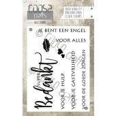 COOSA Crafts - clearstamps A7 - Bedankt (NL) (COC-022)*
