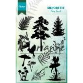 Marianne D - Clear Stamp - Silhouette fairy forest 110 x 150 mm (CS1013)