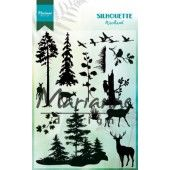 Marianne D - Clear Stamp - Silhouette woodland 110 x 150 mm (CS1014) (20% KORTING)