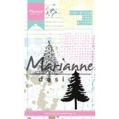 Marianne D - Cling Stamp - Tiny`s kerstboom 90 x 110 mm (MM1625)  (20% KORTING)