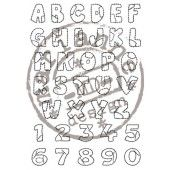 Clearstamp - Marianne Design - Stempel Patchwork alphabet (CS0921)