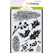 CraftEmotions Mask stencil - xmas florals A6 (185070/0102)