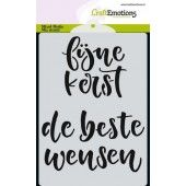 CraftEmotions Mask stencil - handletter fijne kerst A6 (NL) (185070/0105)