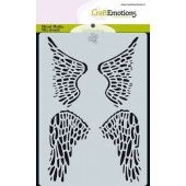 CraftEmotions Mask stencil Angel & Bear - vleugels Carla Creaties (07-19) (185070/0115)