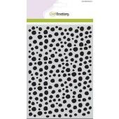 CraftEmotions Mask stencil - Dots irregularly A5 (185070/1113)*