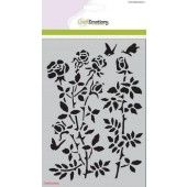 CraftEmotions Mask stencil - Botanical Rose Garden A5 (185070/1235)