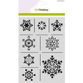 CraftEmotions Mask stencil - ijskristallen A5 Christmas Nature (185070/1237)