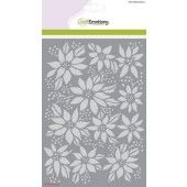 CraftEmotions Mask stencil - kerstroos A5 Christmas Star (185070/1249)