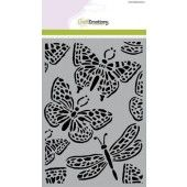 CraftEmotions Mask stencil - vlinder groot A5 (185070/1250)*