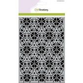 CraftEmotions Mask stencil - patroon ornament hart bloem A5 (185070/1254)