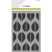 CraftEmotions Mask stencil - patroon ornament bladeren A5 (185070/1255)