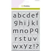 CraftEmotions Mask stencil - alfabet kleine letters Skia A5 - H=21mm A5 (185070/2109)