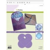 CraftEmotions stencil- envelop duo paper - vierkant 14x14cm (185070/4501*)