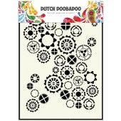 Dutch Doobadoo Dutch Mask Art stencil fine tandwielen A5 (470.154.001)*