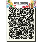 Dutch Doobadoo Dutch Mask Art stencil Big Roses A5  (470.715.023)*