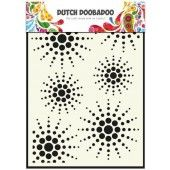 Dutch Doobadoo Dutch Mask Art stencil zon A5  (470.715.026)*