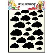 Dutch Doobadoo Dutch Mask Art stencil Clouds A5  (470.715.029)