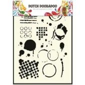 Dutch Doobadoo Dutch Mask Art stencil Geometric Tiles A5   (470.715.035)*