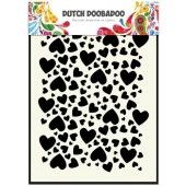 Dutch Doobadoo Dutch Mask Art stencil hartjes A5 (470.715.038)*