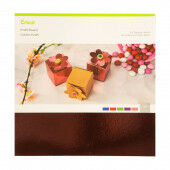 Cricut Kraft Board 12x12 Inch Foil Jewels Sampler (2005491)