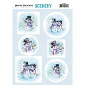 Scenery - Yvonne Creations Happy Snowmen