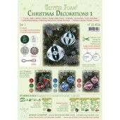 LeCrea - Glitter Foam Kerstbal decoratie Set 1