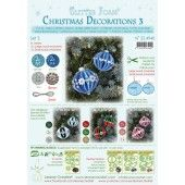 LeCrea - Glitter Foam Kerstbal decoratie Set 3