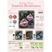 LeCrea - Glitter Foam Kerstbal decoratie Set 4