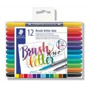 Brush letter duo penseel lettering pen - set 12 (3004 TB12)