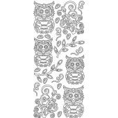 Stickervel - Owls leaf - Zilver