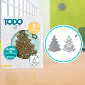 TODO Die Template Set Decorative Christmas Tree (370370)