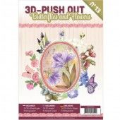 3D Pushout Book 13 -  Butterflies and Flowers