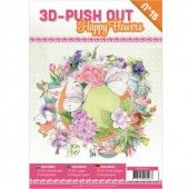 3D Pushout Book 15 Happy Flowers