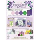 LeCrea - Sticker & Foam Flowers set 1 - Violet (25.5763)*