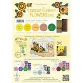 LeCrea - Sticker & Foam Flowers set 4 - Geel (25.5794)*