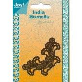 Embossing snij en borduurstencil - Hoekje 2 - Joy - India Stencils - 6001/0066
