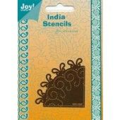 Embossing snij en borduurstencil - Hoekje - Joy - India Stencils - 6001/0067