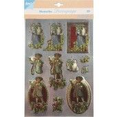 3D Push out - Metallic Decoupage - Kerst 2