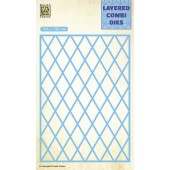 Nellie's Choice Layered Combi Die Lattice laag A 106x150mm (LCDL001) (05-19)